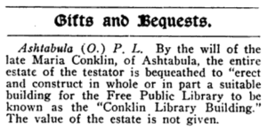 Library Journal quote february 1902