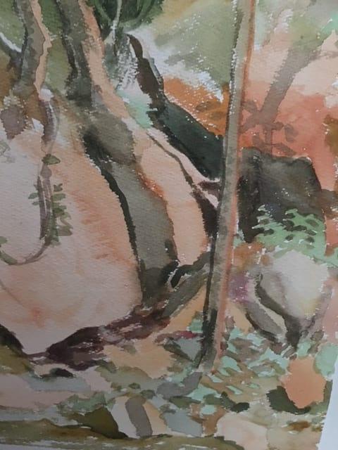 Watercolor landscape by Peggy Kurtz