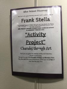 Frank Stella poster