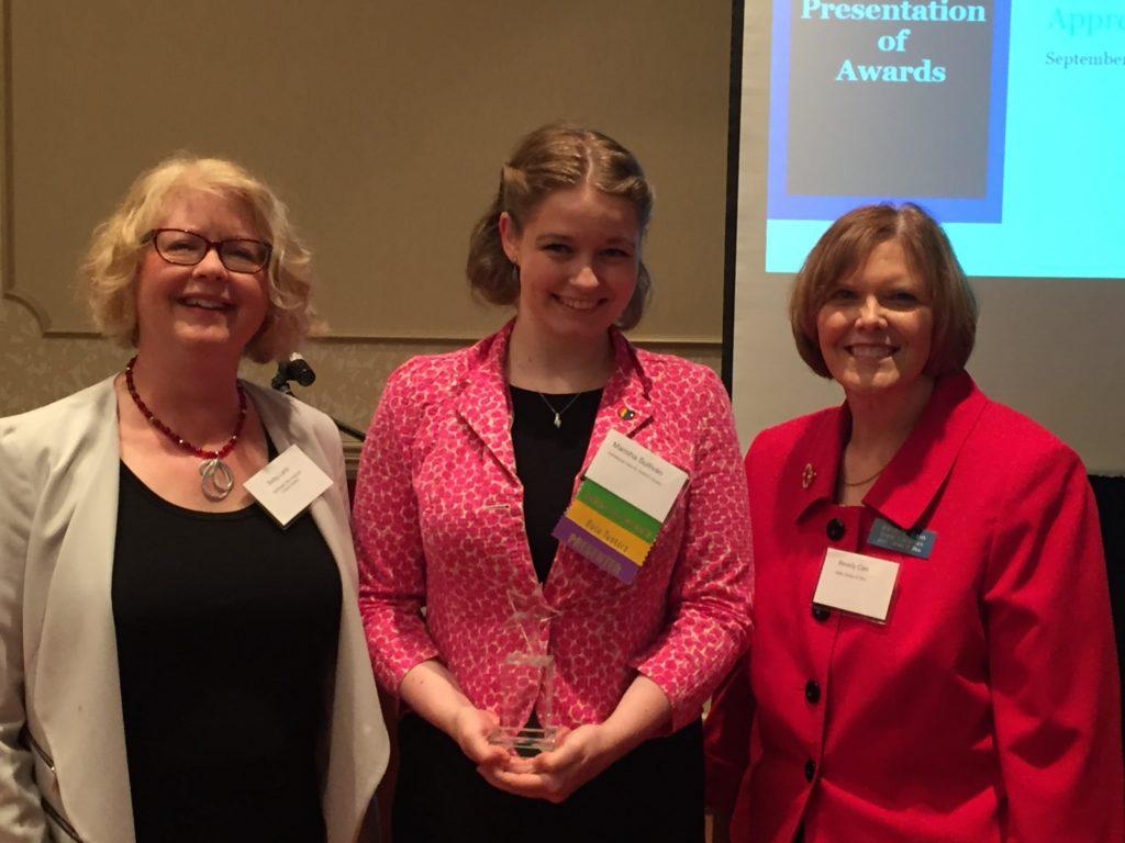Marisha Sullivan with the award presenters