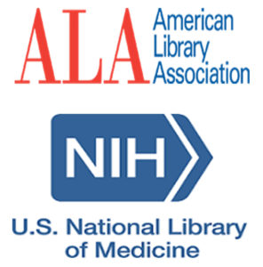 logos for the American Library Association and the U.S. National Library of Medicine