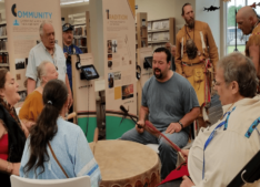 Rapid Rivers Drum Family at Grand Opening of Native Voices exhibit