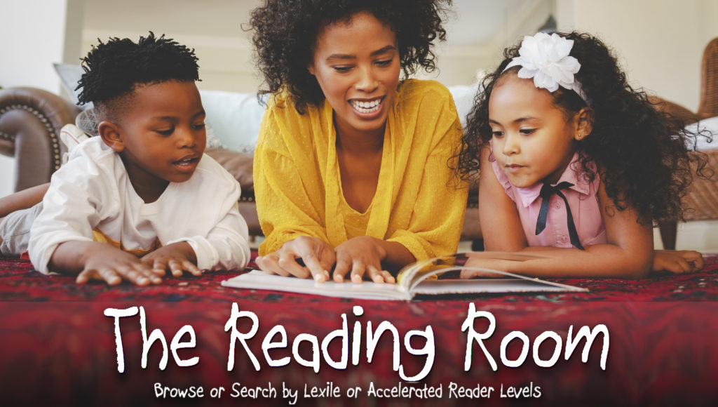 Button for the Reading Room. Browse the library collection by Lexile and AR Levels.