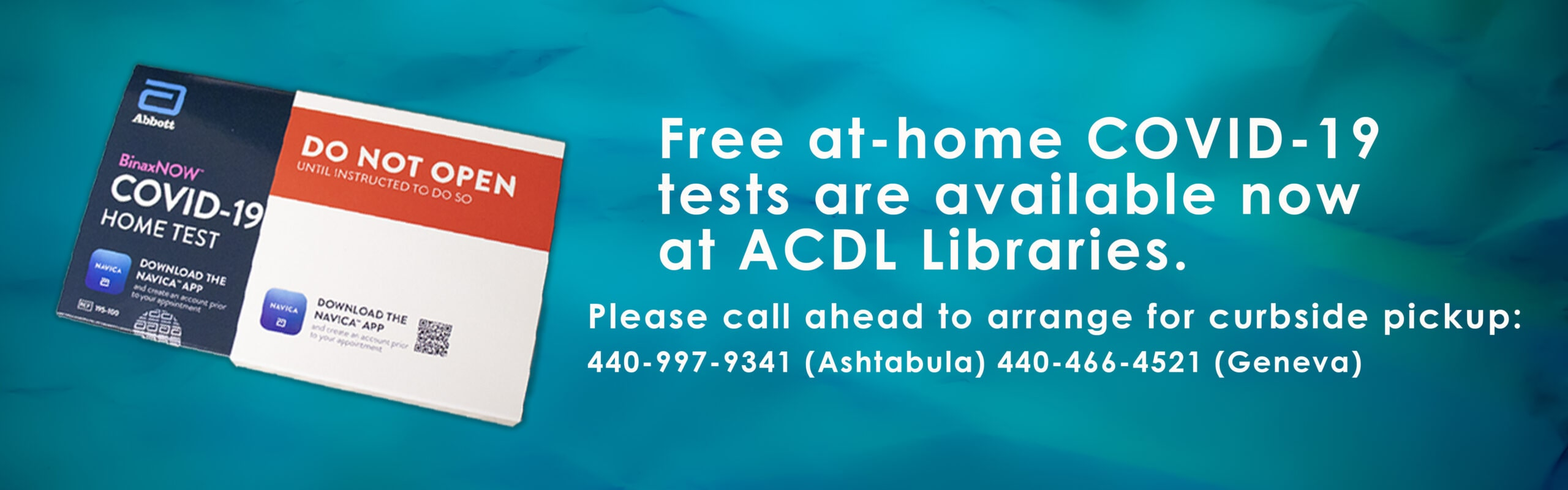 COVID Tests Available